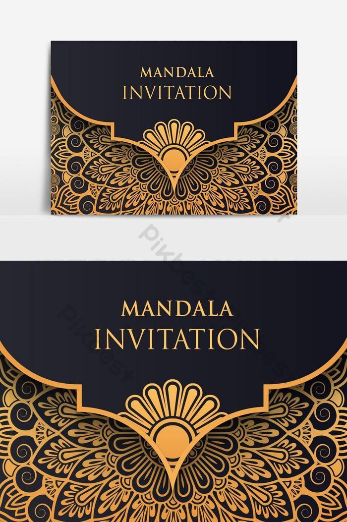 luxury gold vintage invitation card