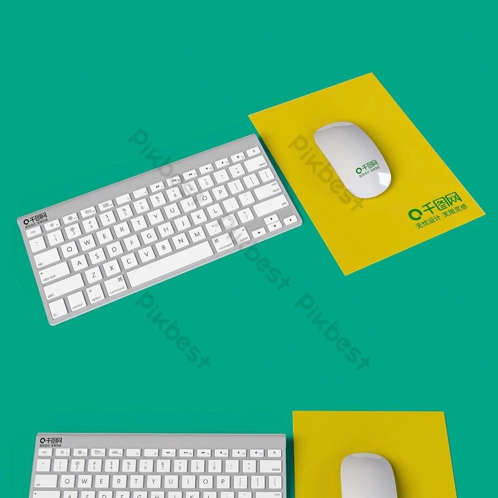 clavier souris tapis de souris maquette