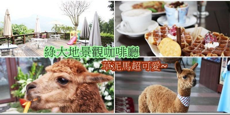 台中‧新社。景觀餐廳|【綠大地景觀咖啡廳】用餐時有草泥馬陪伴在身旁好療癒