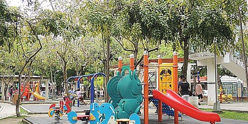 台中。景點 【北屯兒童公園】溜滑梯、盪鞦韆、沙坑~滿滿都是兒童遊樂設施的公園