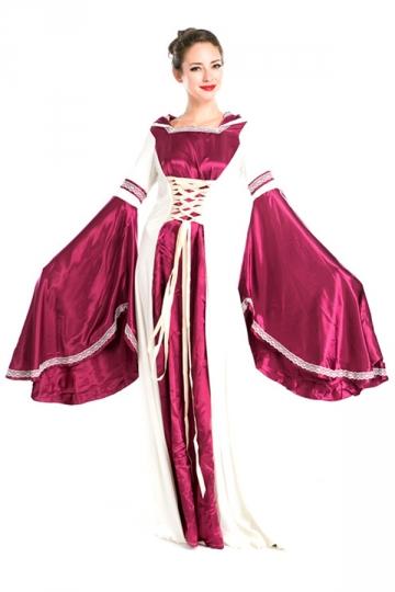 Ruby Fancy Ladies Halloween Royal Medieval Costume PINK QUEEN