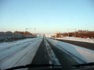 北の大地をを運転する。