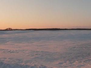 夕日に染まる北の大地
