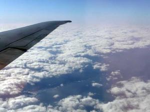 空から見る竜飛岬