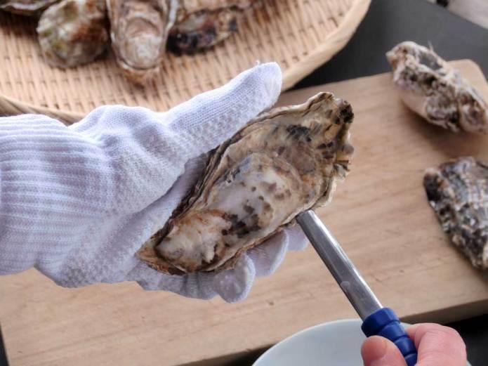 殻付き牡蠣のむき方