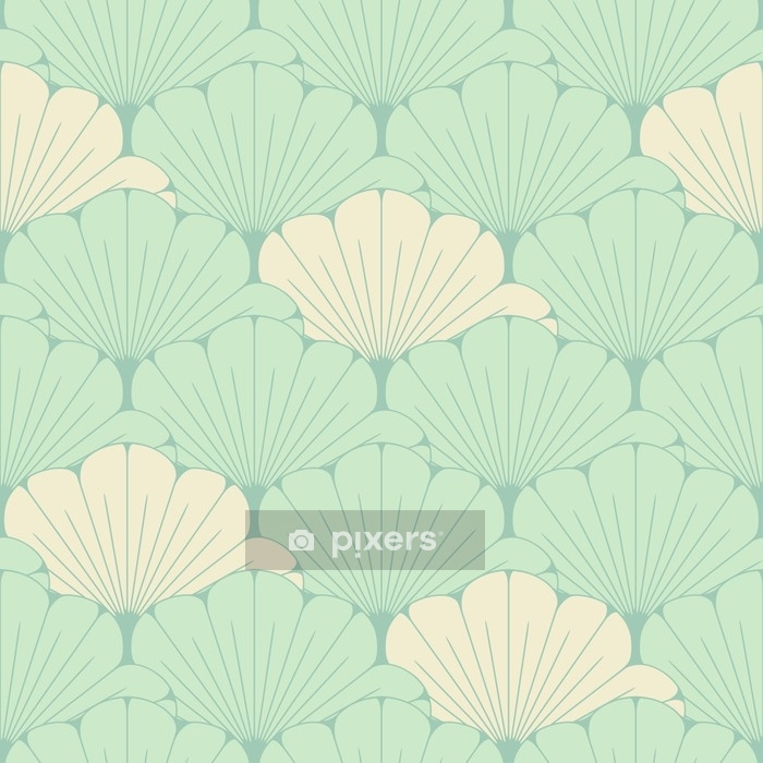Housse De Couette Une Tuile Sans Couture De Style Japonais Avec Un Motif De Feuillage Exotique En Bleu Tendre Pixers Nous Vivons Pour Changer
