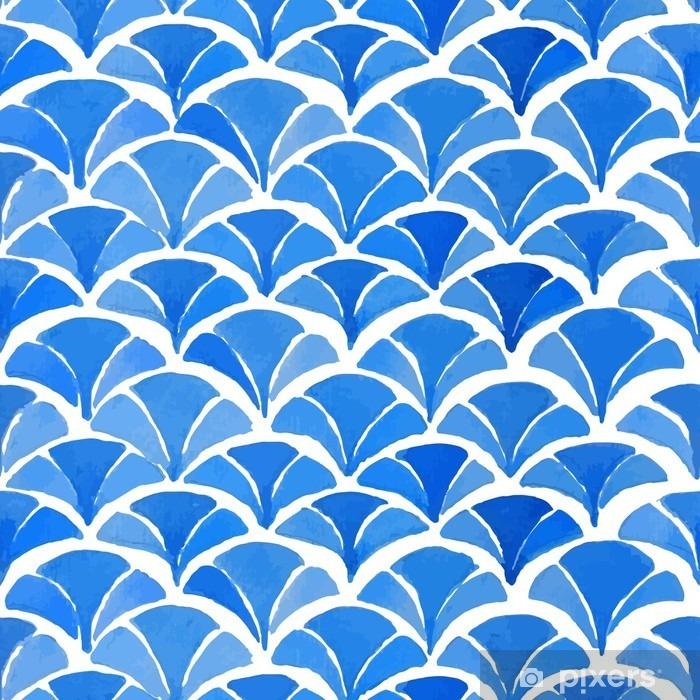 rideau occultant aquarelle bleu motif japonais pixers nous vivons pour changer