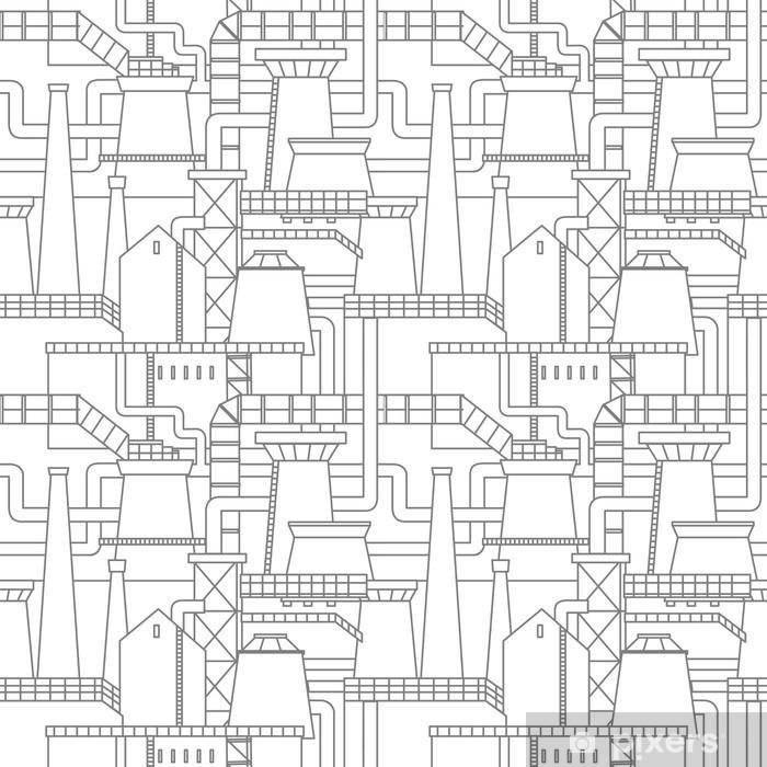 papier peint motif de la ville industrielle pixers nous vivons pour changer