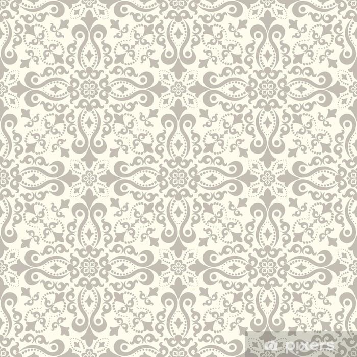 rideau occultant fond clair sans couture avec motif beige dans le style baroque illustration retro vectorielle ideal pour l impression sur tissu ou papier pixers nous vivons pour changer