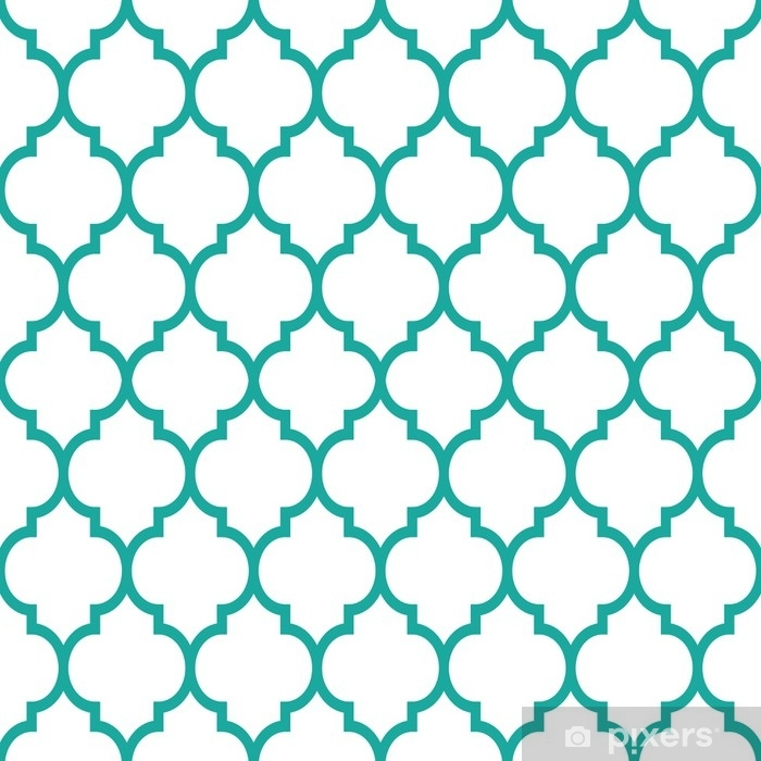 moroccan tiles design seamless turqoise pattern geometric background wall mural pixers we live to change