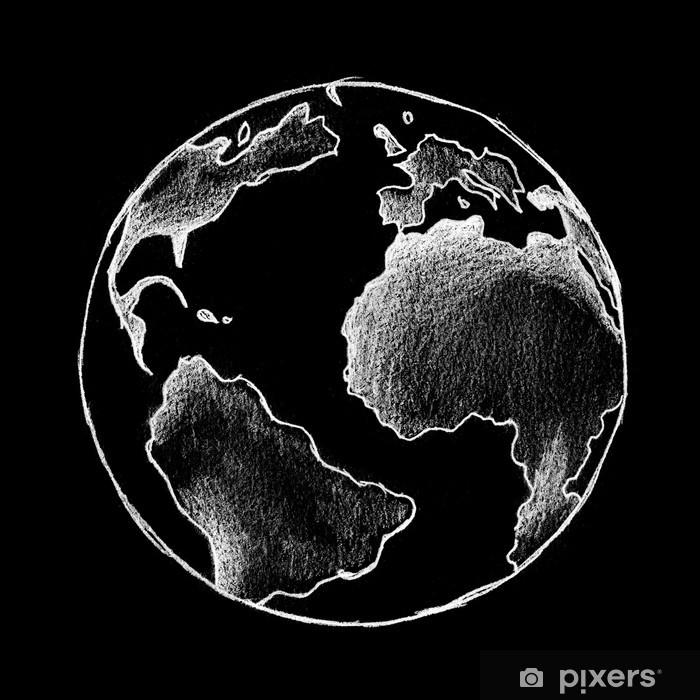fototapete globe terrestre blanc sur fond noir pixers wir leben um zu verandern