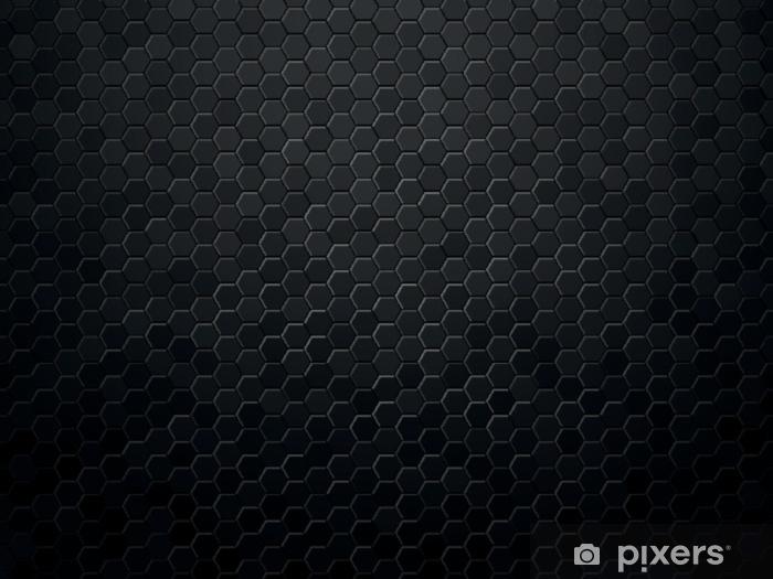 papier peint hexagone de fond abstrait texture noir