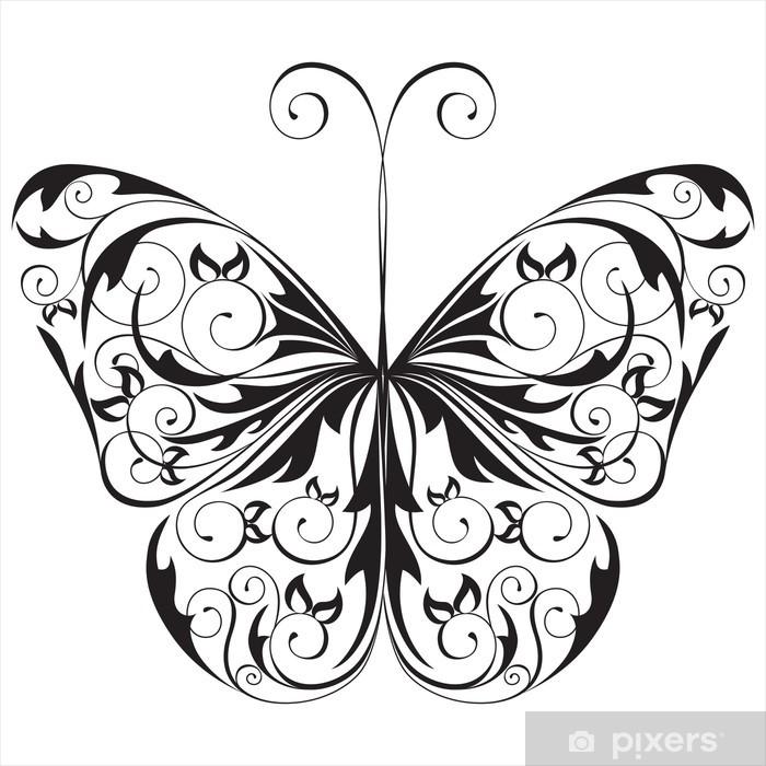 https pixers fr rideaux occultants papillon noir et blanc 18604828