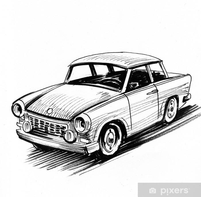 https pixers fr rideaux occultants esquisse de voiture retro est allemand 186389050