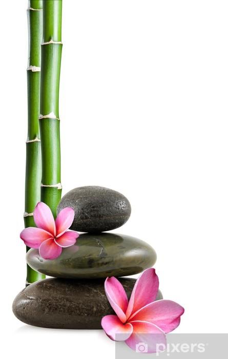 papier peint fleurs de frangipanier galets zen et bambou pixers nous vivons pour changer