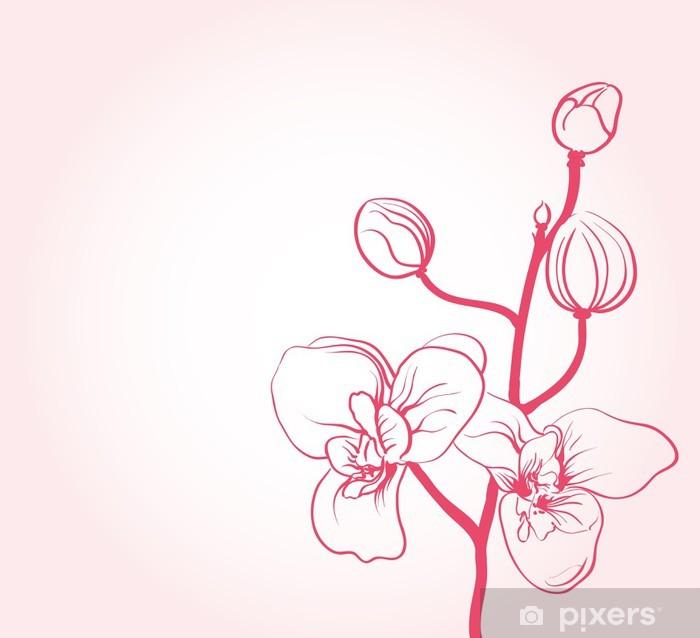 Poster Fond Avec Des Fleurs De Sakura Dessin Pixers Nous Vivons Pour Changer