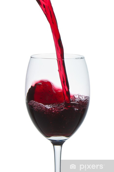 Red Wine Glass Wall Mural Pixers We Live To Change