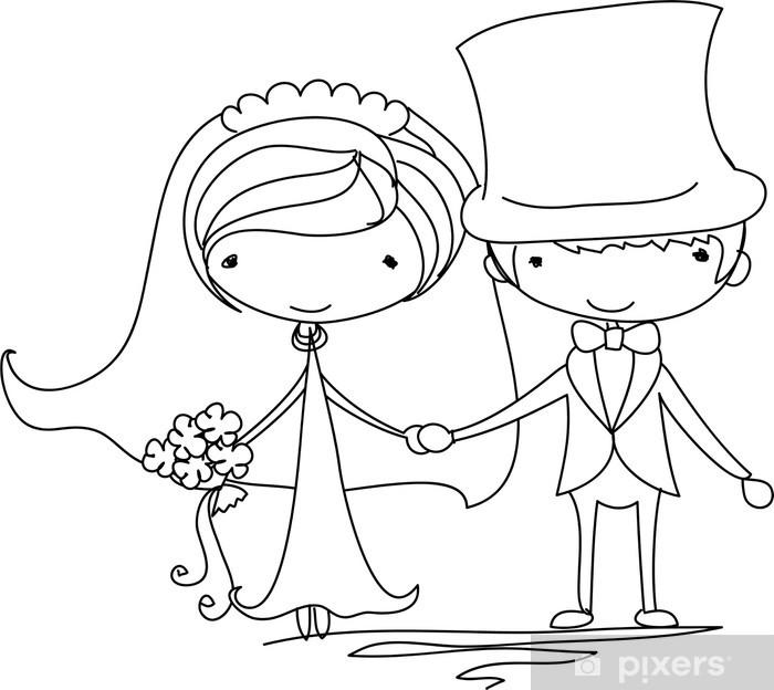 Cartoons Und Karikaturen Mit Braut