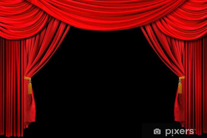 couverture en molleton lumineux rouge scene theatre rideau drape sur fond noir pixers nous vivons pour changer