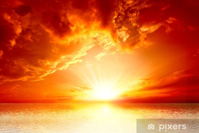 https pixers fr papiers peints coucher du soleil rouge 39859992