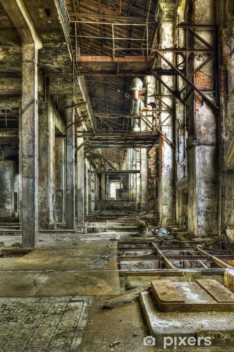 https pixers fr stickers vue dans un long couloir dans une ancienne mine de charbon abandonnee 41677349