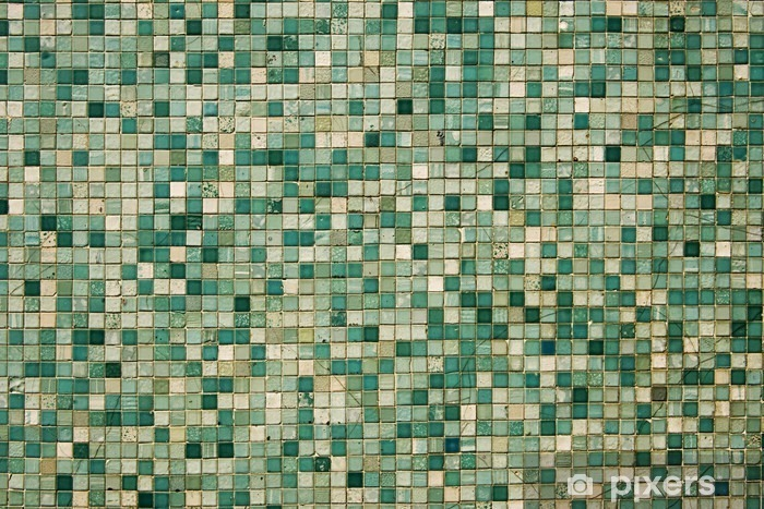 small green mosaic tiles wall mural pixers we live to change