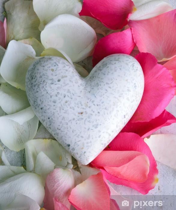 https pixers fr rideaux occultants marple coeur blanc avec des petales de rose 47148141