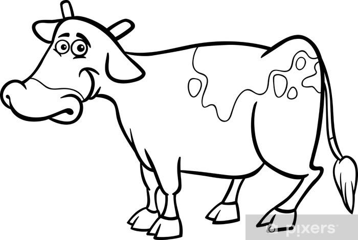 Vaca Dibujo Animado Para Colorear