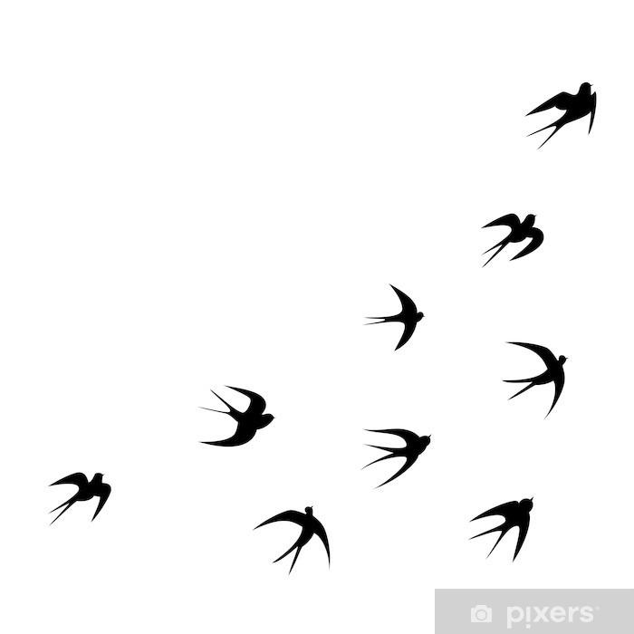 fototapete schwalben tattoo vorlage vektor silhouette pixers wir leben um zu verandern