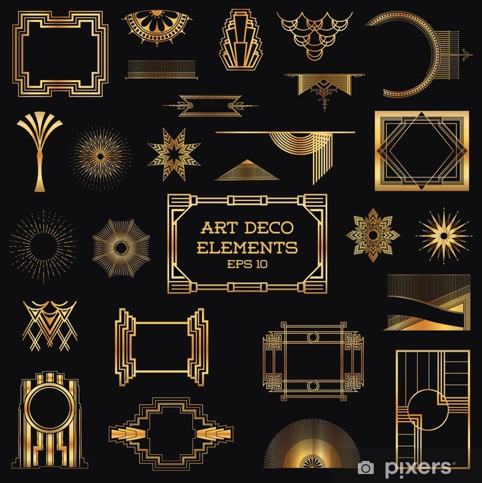 art deco vintage frames and design elements sticker pixers we live to change