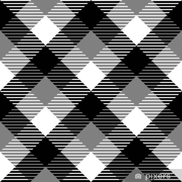 rideau occultant tissu a carreaux vichy seamless dans le gris blanc noir pixers nous vivons pour changer