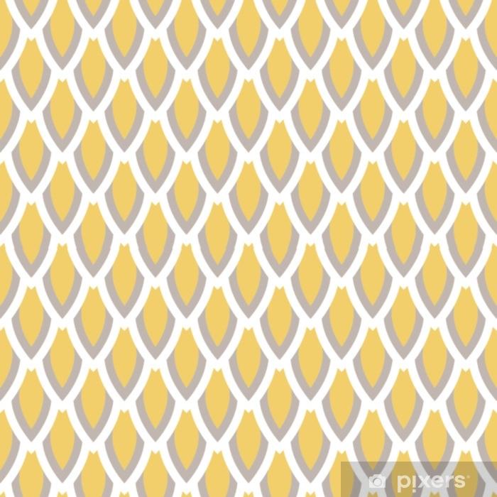 rideau occultant moutarde jaune et motif taupe geometrique vecteur transparente style simple classique