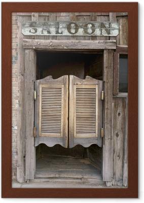 old western saloon portes battantes avec connexion