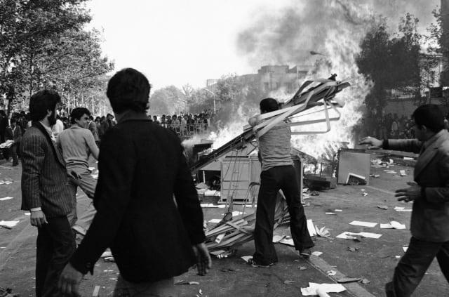 Una manifestación contra el Gobierno en las calles de la capital iraní (5 de noviembre de 1978).