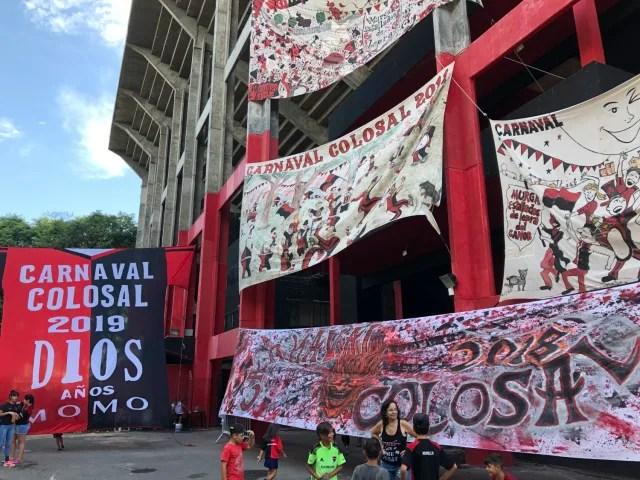 El rojo y el negro son los colores de Newell's Old Boys, el otro gran cuadro de Rosario