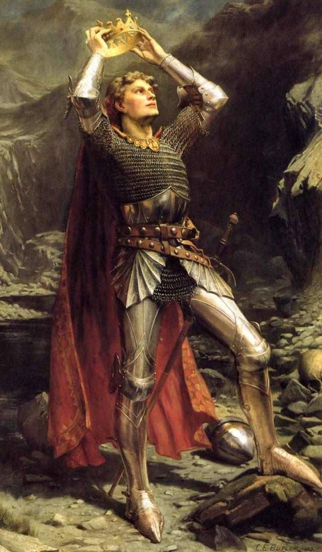 El Rey Arturo según una pintura Charles Ernest Butler (1903).-