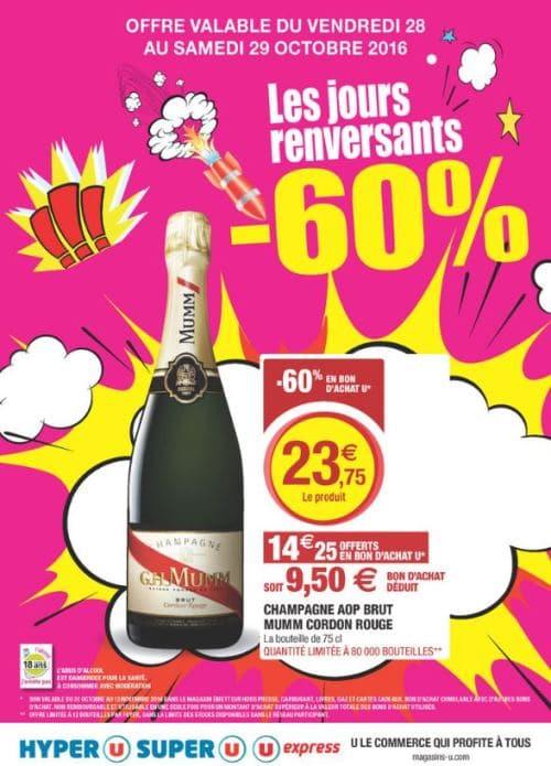 super u champagne mumm pas cher pour