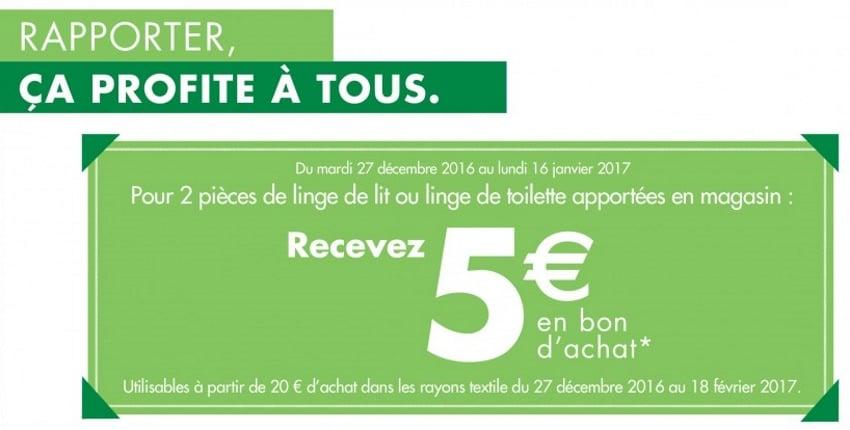 Reprise D Anciens Linges De Lit Ou De Toilette Contre 5 Chez Carrefour