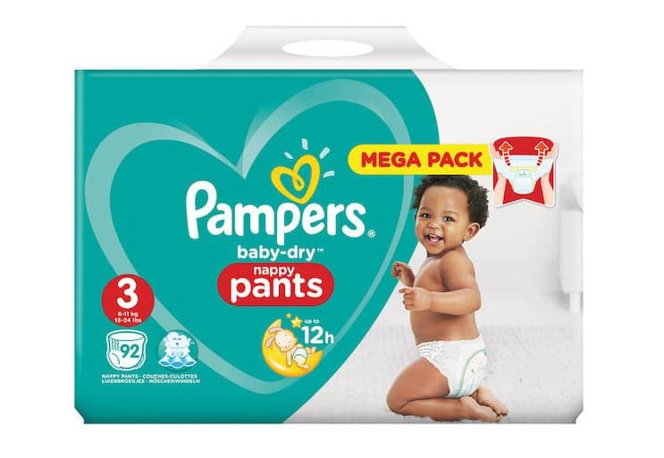 mega pack de couches pampers baby dry