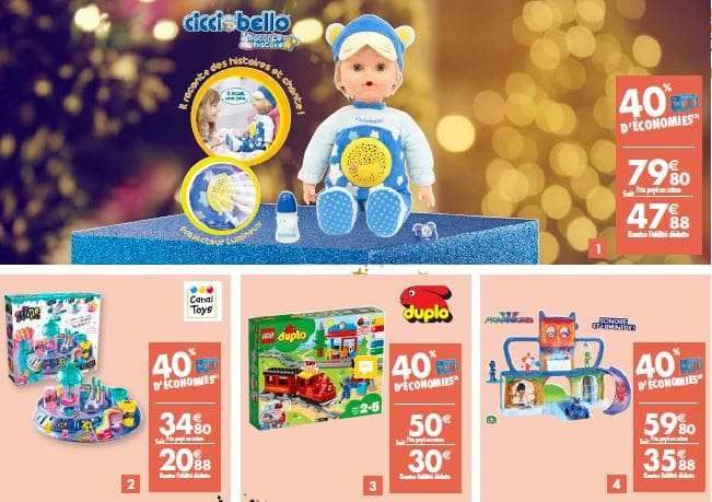 carrefour noel jouets 40 rembourses