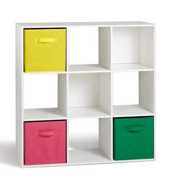 meuble de rangement compo 9 cases blanc
