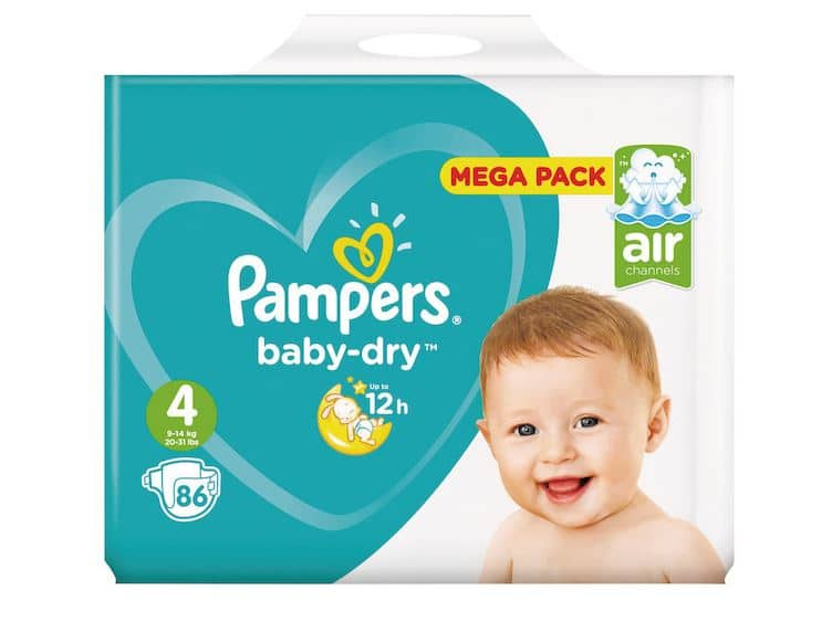 carrefour market couches pampers baby