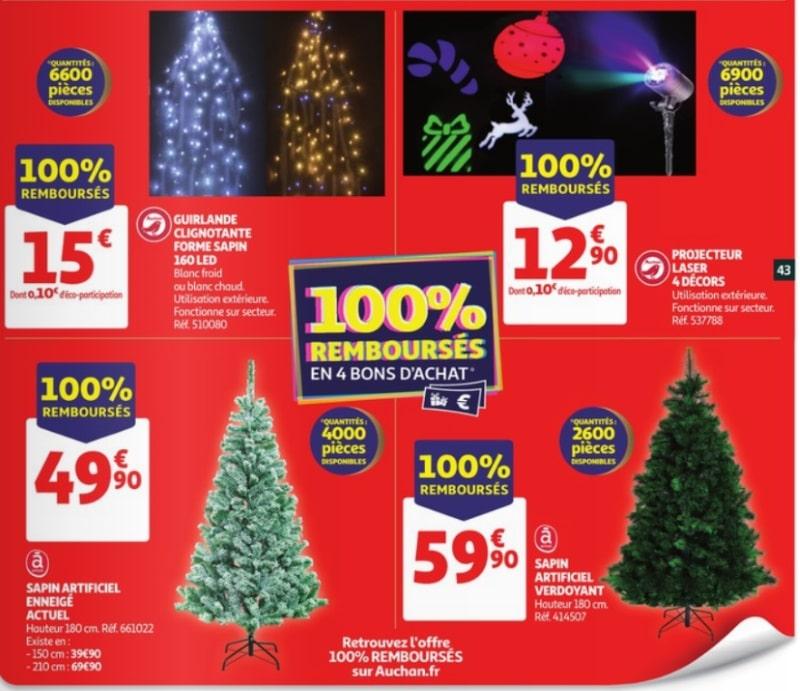 Auchan 4 Produits De Decoration De Noel 100 Rembourses
