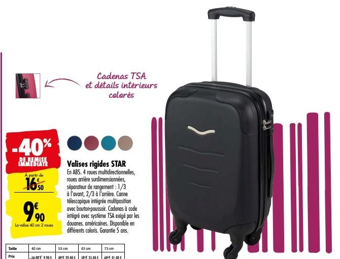 carrefour valise rigide star pas