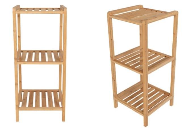 etagere de salle de bain en bambou a