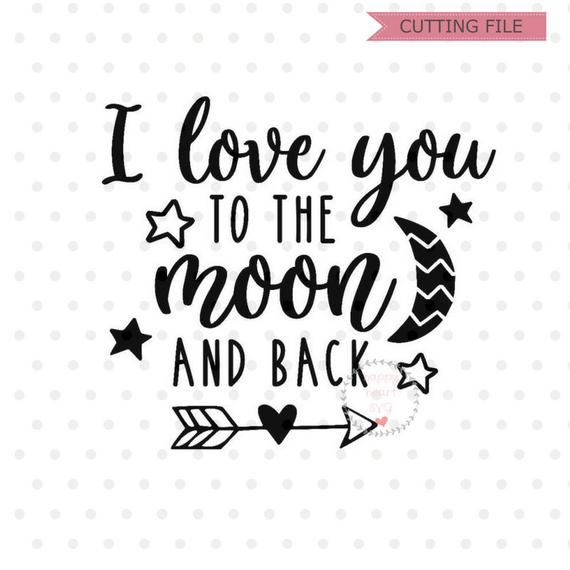 Download I Love You To The Moon And Back SVG Baby #1149549 - PNG ...