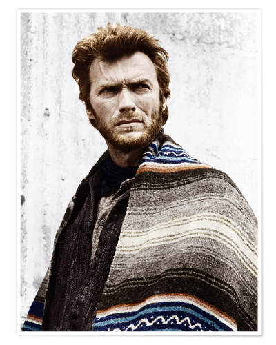 Clint Eastwood With A Poncho Poster Posterlounge