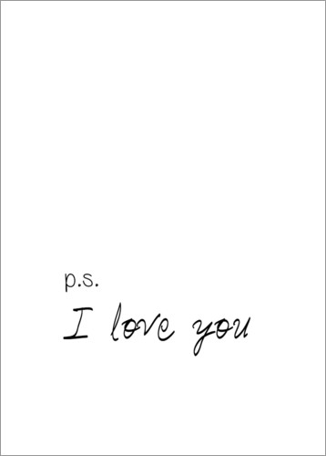 premium poster i love you