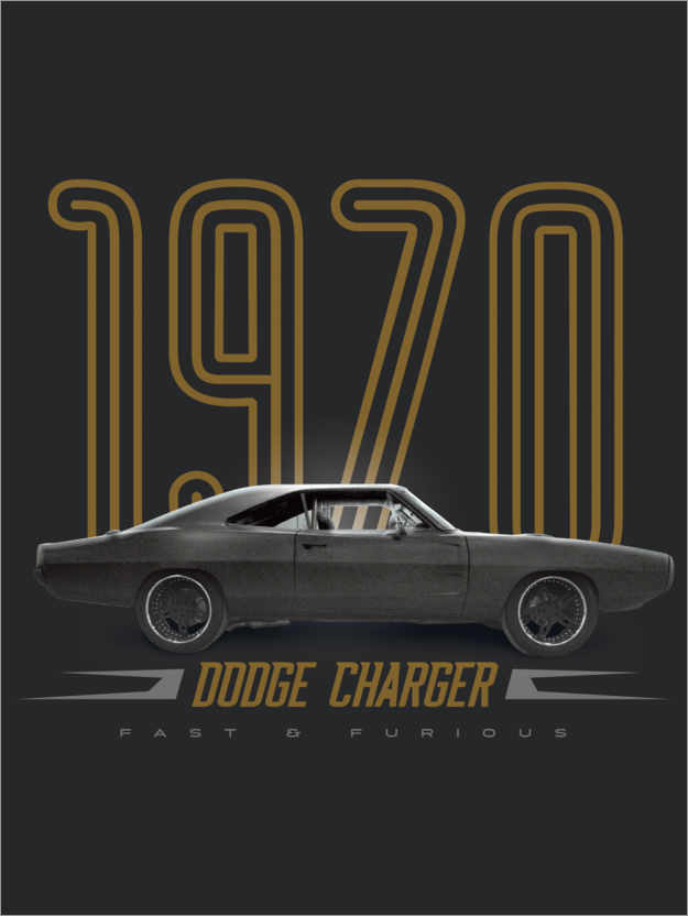 premium poster dodge charger 1970
