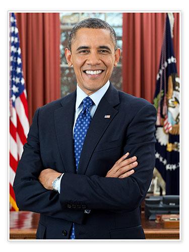 premium poster prasident barack obama im portrat